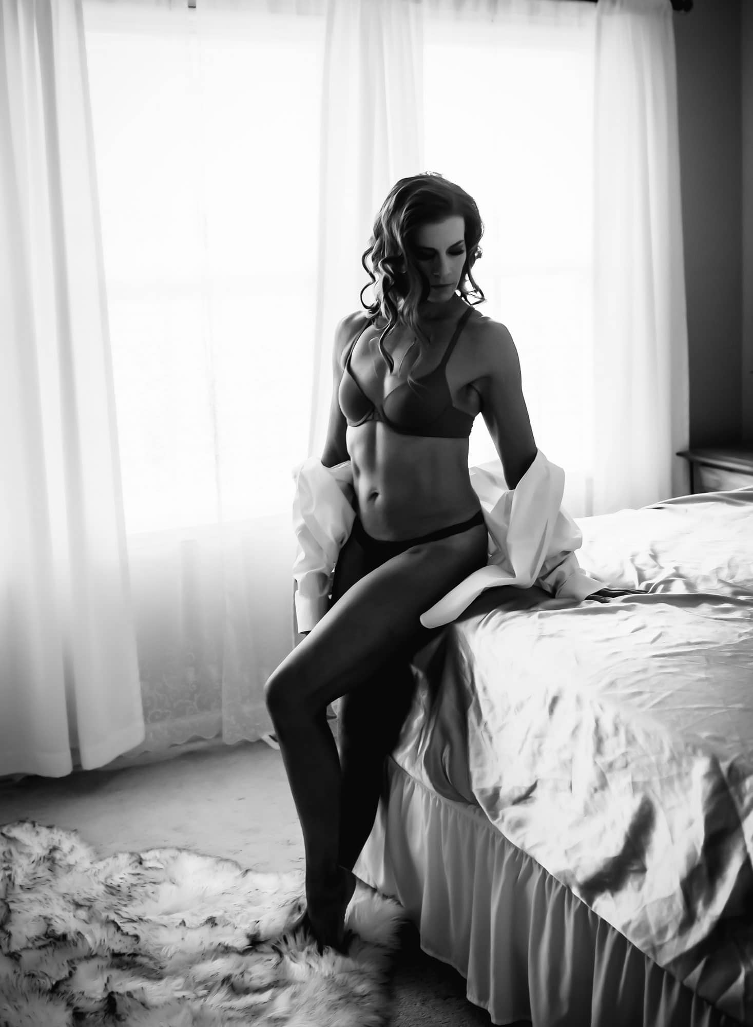 muscular woman mens dress shirt